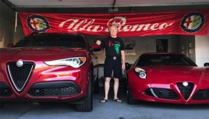 Gordy Hyde & Dolly Samson, 2018 Stelvio & 2015 4C